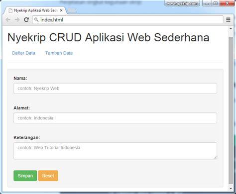 cara membuat web sederhana dengan java cara membuat aplikasi web sederhana nyekrip