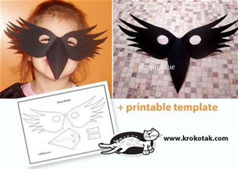 printable hawk mask crow mask for my little fledgling kids mask and costume