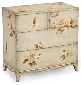 jonathan charles painted floral chest of drawers