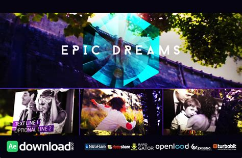 epic dreams gallery free after effects project