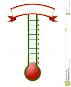 goal setting thermometer template google search