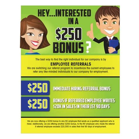Employee Referral Program Flyer Postcard Flyer Or Print Contest Referral Program Flyer Template