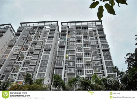 appartments singapore modern apartment building in singapore stock image image