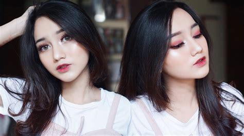 tutorial makeup nanda arsyinta easy cranberry makeup tutorial tarteist pro palette