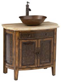 Antique Bathroom Vanity With Vessel Sink Rustico Vessel Sink Chest Traditional Bathroom