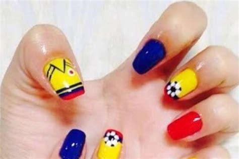 imagenes de uñas decoradas de colombia 2015 decoracion de u 241 as seleccion colombia dise 241 o im 225 genes