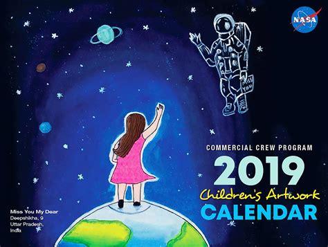 commercial crew  artwork calendar nasa