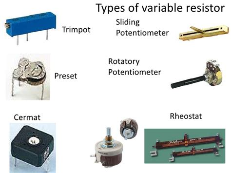 different types of variable resistors introduction to electronics