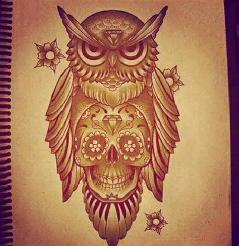 owl and sugar skull tattoo owl skull cars motorcycles that i