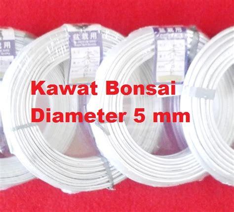 Kawat Bonsai 1 5mm kawat bonsai putih 5mm 1 roll 18 7 meter bibitbunga