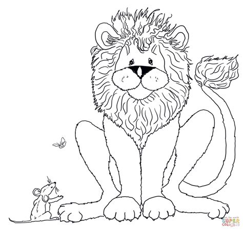 coloring pages the lion and the mouse the lion and mouse coloring coloring pages