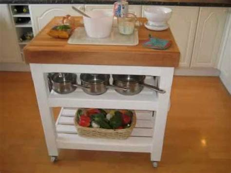 Kitchen Trolley Island hand made italian style butchers block table trolley