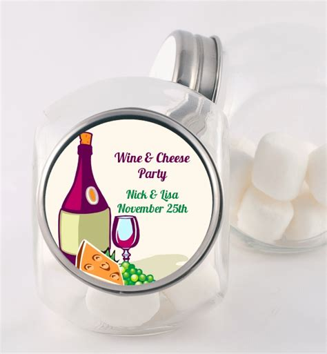 wine cheese bridal shower favors wine cheese bridal shower jars candles favors