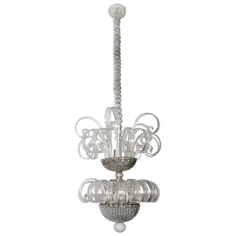 Two Tier Chandelier Exceptional Two Tier Chandelier By Venini At 1stdibs