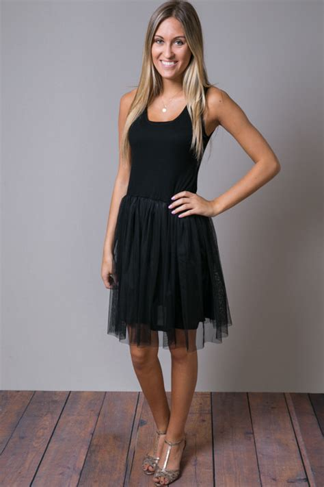 Ricci Tulle Tank Dress It Or It by Black Tank Tulle Slip Slip O2 Collection