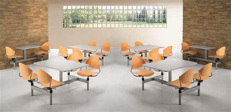 tavoli per mensa tavolo monoblocco con 4 sedie girevoli per sale mensa