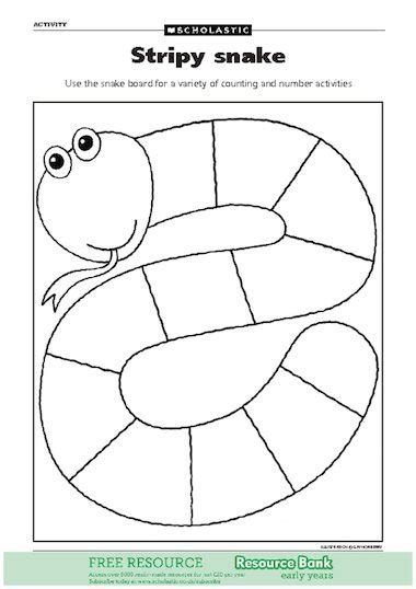stripy snake activity free early years teaching resource