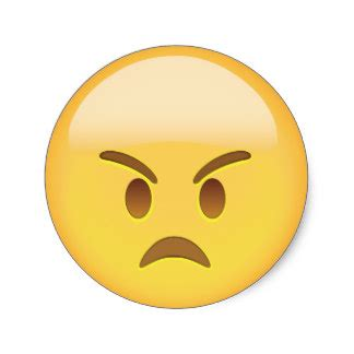 emoji angry angry face emoji round stickers