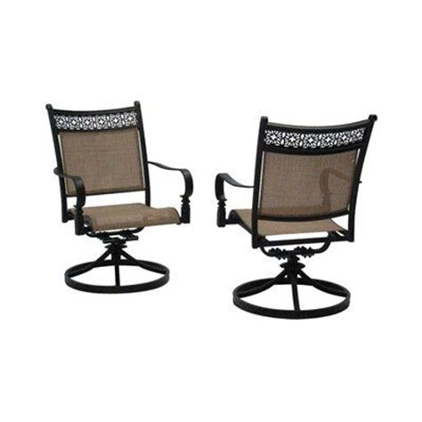 Patio Furniture Sets With Swivel Rockers Garden Treasures Potters Glen Aluminum Swivel Rocker Patio