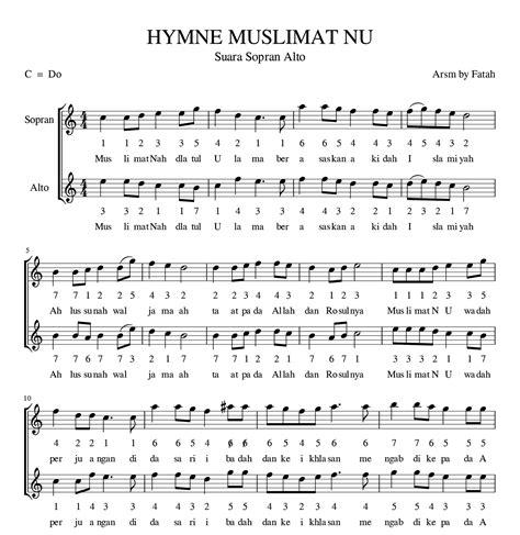 download mp3 gratis hymne pamong hymne muslimat nu suara sopran arpegio sheet music