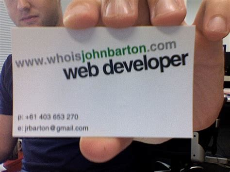 Average Business Card