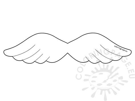 angel wing christmas template coloring page gt gt 25 nice
