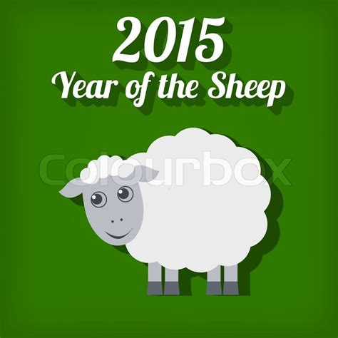 new year 2015 sheep images new year of the sheep 2015 vector illustration