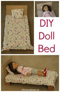 bed dolls diy american doll bed coffee cups and crayons