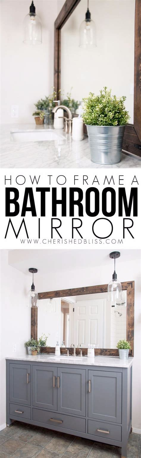 quick and easy home improvements diy remodeling hacks frame a bathroom mirror quick and