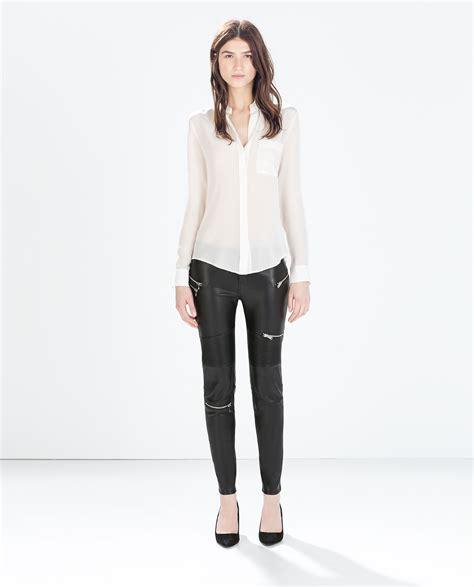 Nagita Dress Black Dress 0116 Sm faux leather biker trousers with zips trousers