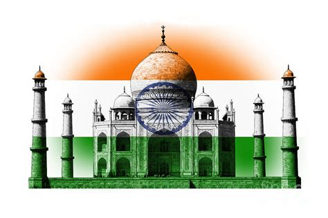 Home Decor Blogs India reflection of indian flag on tajmahal digital art by image