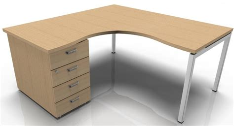 left corner desk and 4 drawer pedestal tenara