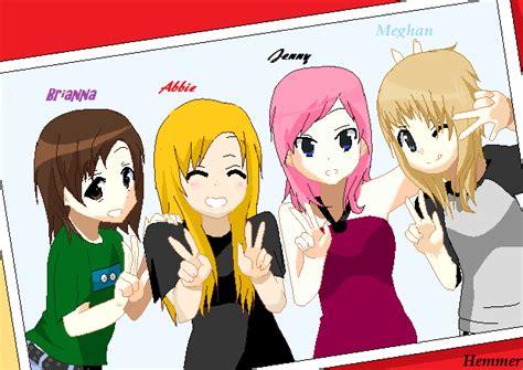 5 Anime Friends by Anime Friends By Renaissancehuntress On Deviantart