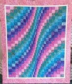 easy peasy bargello quilt