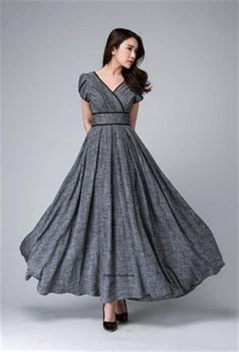 dooney gray a line linen surplice dress knee light blue chiffon shoulder a line knee length dress