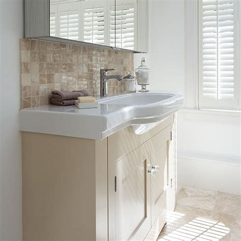 cream bathroom vanity units bathroom with cream and white vanity unit decorating housetohome co uk