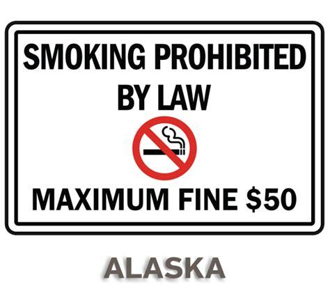 no smoking sign with fine alaska no smoking sign by safetysign com r5700