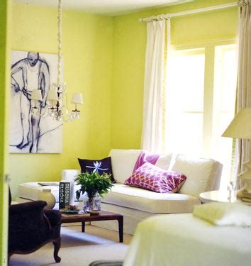 yellow green paint color s contemporary living room behr pear domino magazine