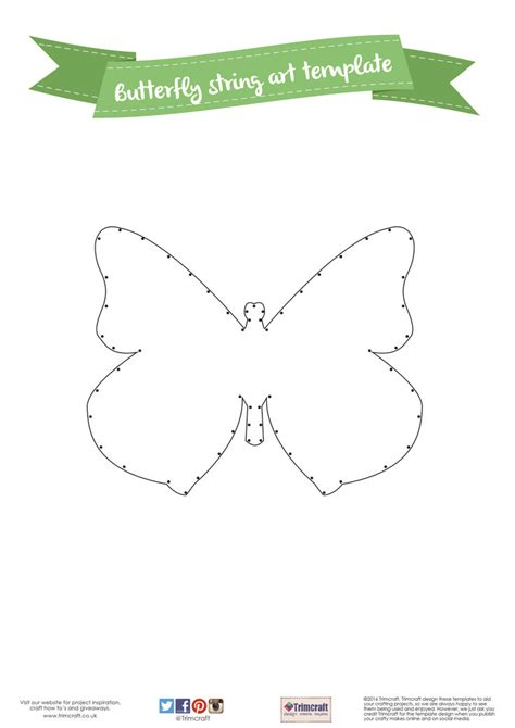 String Patterns Printable - diy home d 233 cor butterfly string tutorial with free