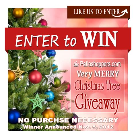 enter to win a christmas tree