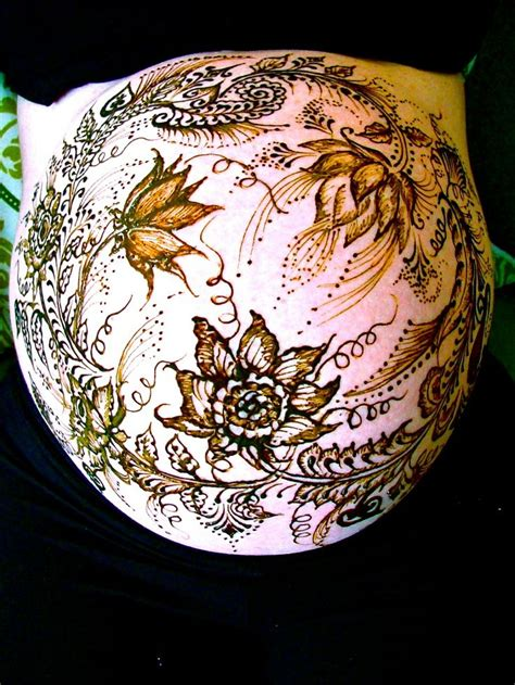henna tattoo pregnant belly 142 best belly mandala pictures images on