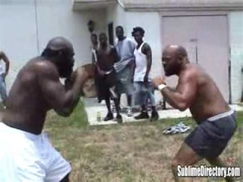 backyard fights kimbo kimbo slice vs big bird street fight hq youtube