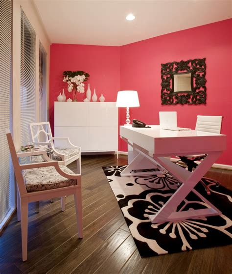 high low workspace get the look of this bright pink chic office for less sayeh pezeshki la