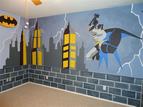 crafted batman mural by kid murals by custommade
