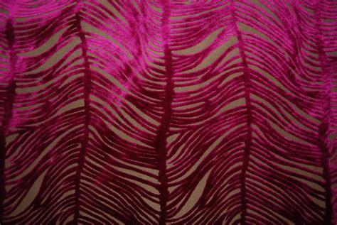 Fuschia Upholstery Fabric by Peacock Plume Luxurious Cut Velvet Fuschia Heavy Velvet