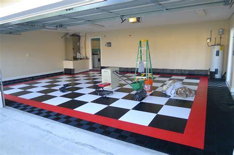 home garage workshop with racedeck garage flooring wall installing racedeck garage flooring page 4