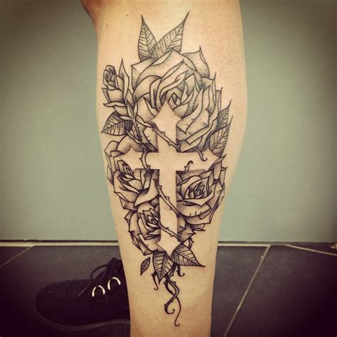 cross and roses tattoos best ideas gallery
