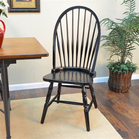 Black Wooden Dining Chairs - carolina cottage black wood dining chair 1c53 969