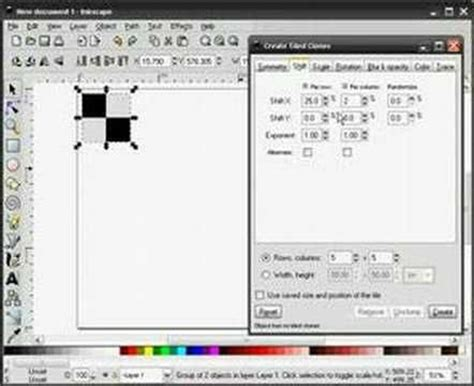 inkscape tutorial basic inkscape tutorial by heathenx create tiled clones