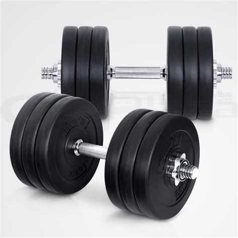 dumbbell set everfit weight dumbbells plates home
